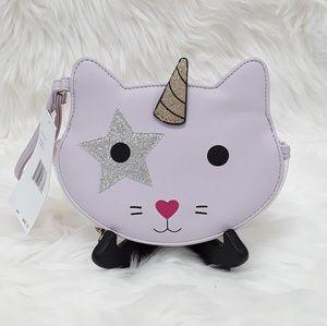 NWT LUV Betsey Johnson Rocker Unicorn Cat wrislet